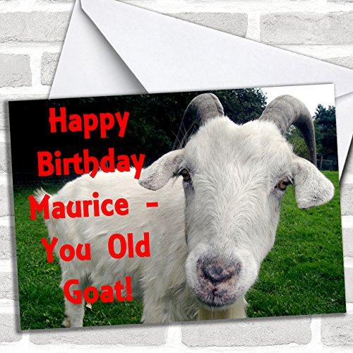 Oude Geit Grappig Aangepaste Verjaardag Groeten Kaart- Verjaardagskaarten/Dieren, Wildlife & Huisdieren Kaarten