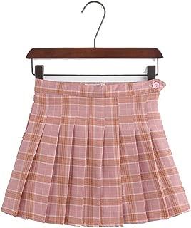 Keetall Pleated Skirts Girls Solid Plaid line Korean Style School Uniform Women