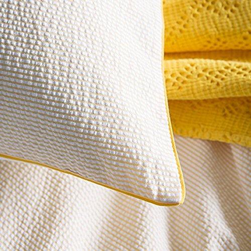 Essix Taie d'oreiller, Coton, Jonquille, 65x65 cm