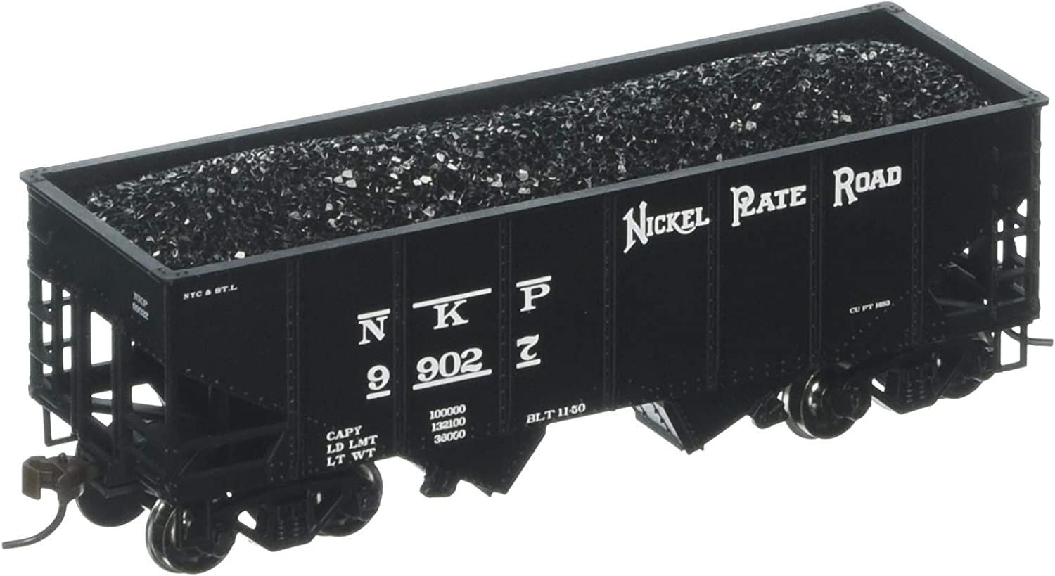 Bachmann Industries 55Ton 2Bay Sure Outside Braced Hopper  Nickel Plate Road (HO Scale)