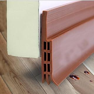Under Door Sweep Door Draft Stopper Weather Stripping Door Bottom Seal Strip by Botrong Size:1M Brown