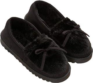 Zapatillas de Estar por casa para Mujer Slippers Comodos Pantuflas Zapatillas Invierno Peluche Algodón Mujer casa 2019 Zap...