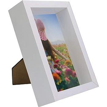 Ray & Chow Marco de Caja de Madera sólida 3D 20x20 cm / 8x8 ...