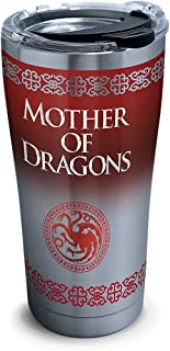 Tervis 1272325 HBO Game of Thrones - Mother of Dragons Insulated Travel Tumbler & Lid, 16 oz - Tritan, Silver