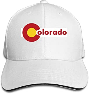 ONE-HEARTHR Adult Colorado Cotton Lightweight Adjustable Peaked Baseball Cap Sandwich Hat Men Women