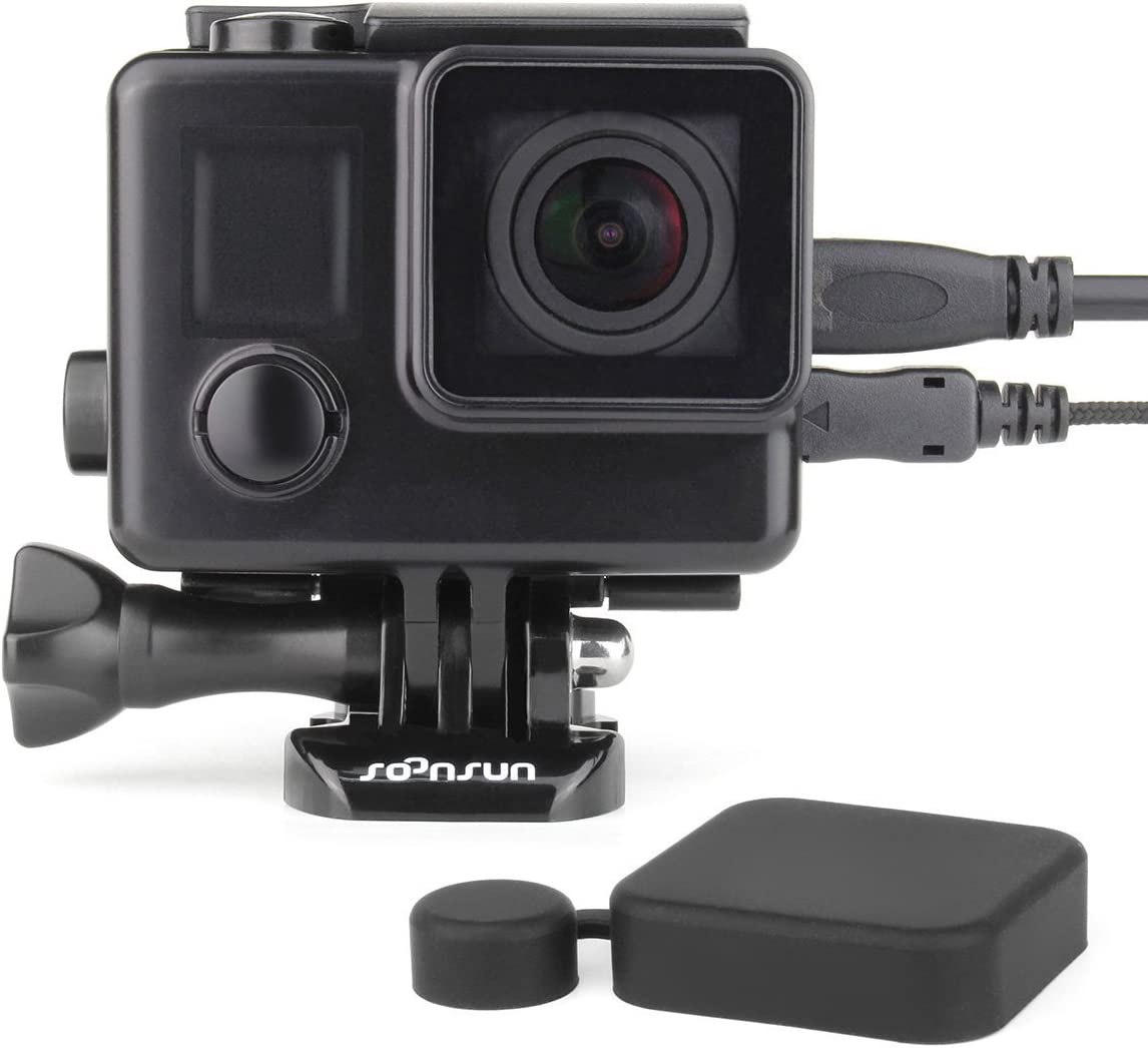 Max 77% OFF SOONSUN low-pricing Side Open Blackout Housing Case for Hero4 GoPro H Hero3+