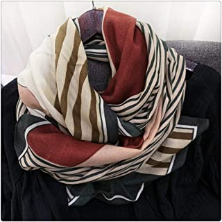 ECSWP KAIDANLE Scarf Women Spring, Autumn and Winter to Increase The Long Thin Section of The Fashion Scarf Shawl (Color : A)