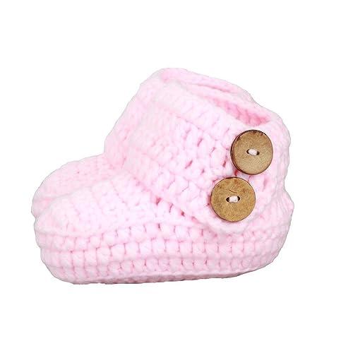 zefen Knit Crochet Baby Booties Newborn Socks Handmade Shoes Deep d6a613e108a1