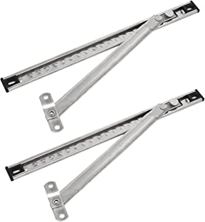 uxcell 12-inch Length 304 Stainless Steel Casement Window Friction Hinge Stay 2pcs