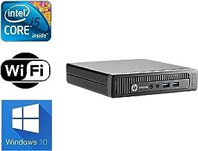 HP EliteDesk 800 G1 Desktop Mini Business PC Intel Quad-Core i5-4570T (2.90GHz) 8GB RAM 500GB HDD Windows 10 Pro 64-Bit WiFi (Renewed)