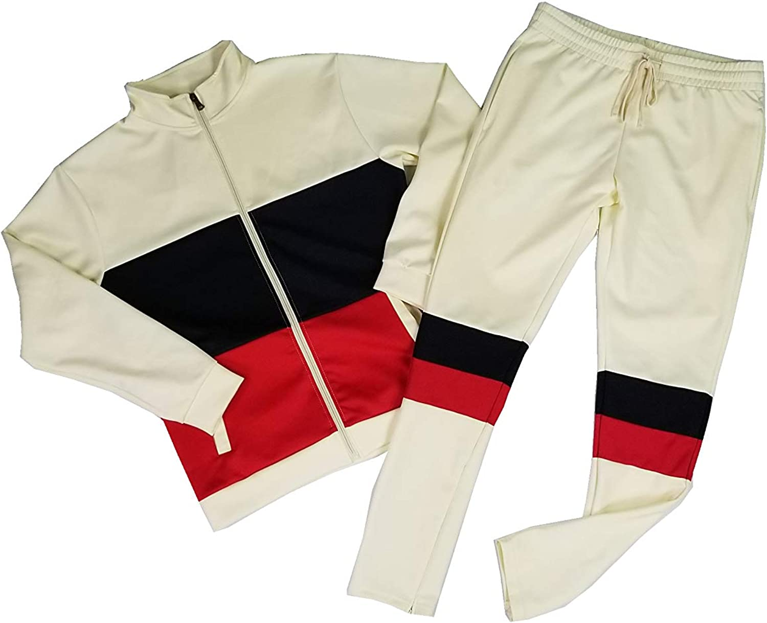 Access Blind Trust Men's Selling Color Jacket Block Tampa Mall a Contrast Tracksuit
