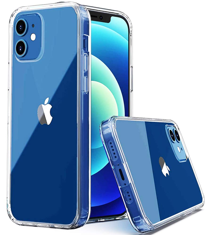 """Amozo - Clear Series Transparent PC+Soft TPU Anti Slip Back Case Cover for iPhone 12 / iPhone 12 Pro (6.1"""")"""