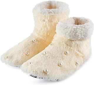 Winter Woman House Slippers Christmas Indoor Socks Warm Fleece Slipper Fur Plush Insole