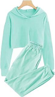 ملابس أطفال Meikulo 2 قطعة ملابس بنات قصيرة قمم هوديس طويلة الأكمام أزياء بلوزات وبنطلون رياضي