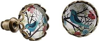 Vintage Women Charms Antique Owl Birds Art Stud Earrings Wedding Party Jewelry Fashion Hummingbird Earrings