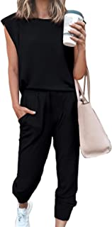 Black, XXL HAVANSIDY Womens Plus Size Two Piece Sweatsuits High Waisted Pant Shirt Set Casual Outfits