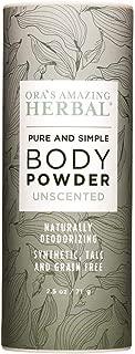 All Natural Unscented Body Powder and Dry Shampoo, Fragrance Free Dusting Powder, Talc-Free, No Corn, Grain, Gluten, GMO, Foot Powder, Ora's Amazing Herbal