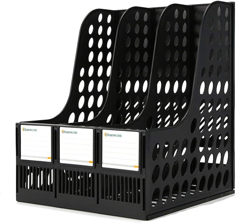 GJD Student Book Stand fileesktop Folder storageFashion Ideas (color   Black, Size   24  25.5  31cm)