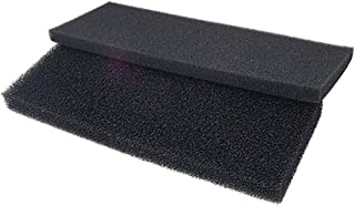 Omama Rectangular Fish Tank Biochemical Filter Bio Sponge Pad, 2-Piece, Black