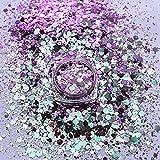 Chameleons Resina epoxi Color Sequin purpurina Mica polvo nuca lentejuelas polvo epoxid UV resina colorante irregular Glitter para la fabricación de joyas, artesanía 2