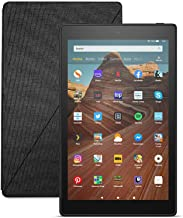 Fire HD 10 Tablet (64 GB, Black) + Amazon Standing Case (Charcoal Black)