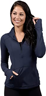 Yogalicious Nude Tech Half Zip Long Sleeve Jacket with Front Pockets