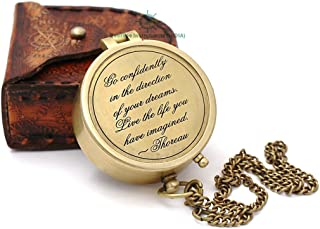 Roorkee Instruments India) A Nautical Reproduction House Engraved Compass Directional Magnetic Pocket Personalized Gift for Camping, Hiking and Touring