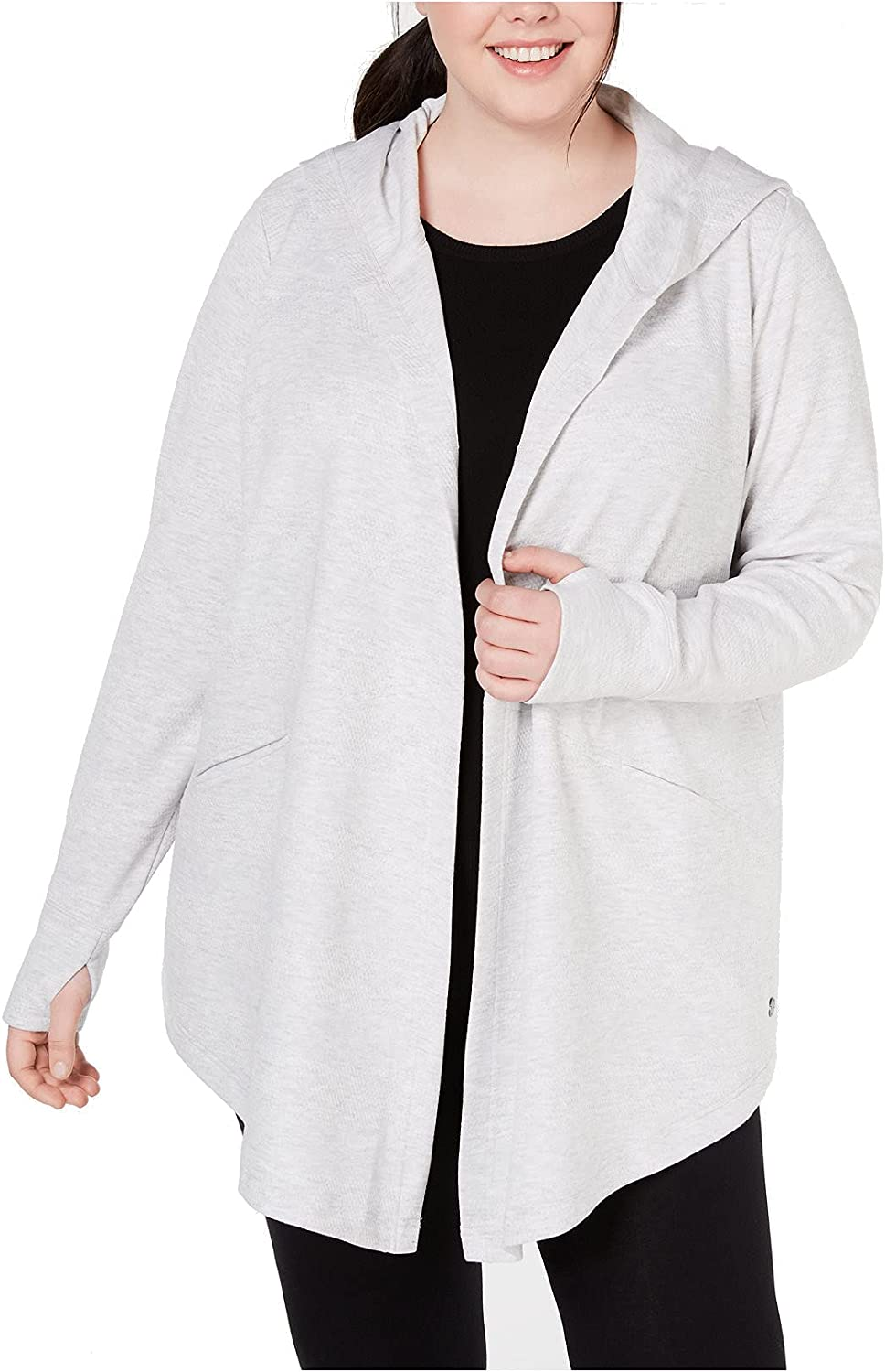 Ideology Women's Plus Size Textured Hooded Wrap