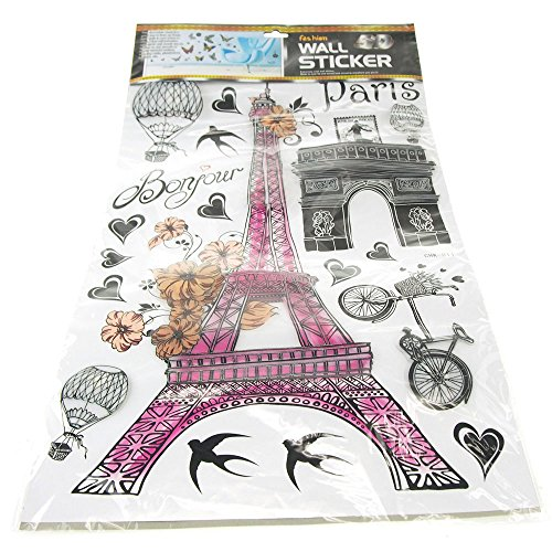 Homeford Parisian Eiffel Statue Stickers