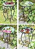Iron/Glass <span class='highlight'>Round</span> <span class='highlight'><span class='highlight'>Mosaic</span></span> Design Side <span class='highlight'>Table</span> <span class='highlight'>Garden</span> Outdoor Patio Flower Plant Stand (Assorted Design)