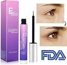 Vanelc Best Organic Lash Serum,Eyelash Growth Serum& Brow Serum,For Long, Thick Looking Natural Lashes and Eyebrows 5ML