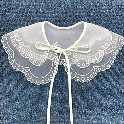 Otoño e invierno falso collar para la camisa collares desmontables encaje falso collar muñeca suéter camisa vestido decoración-G