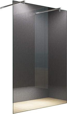 Indipendente 10 millimetri Cabina doccia Dusseldorf 138 x 200 cm vetro trasparente Walk-In Cabina doccia doccia parete doccia da parete divisoria