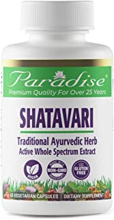 Paradise Herbs - Shatavari, Organic - Traditional Ayurvedic Herb | Helps Harmonize The Female Reproductive System + Includ...