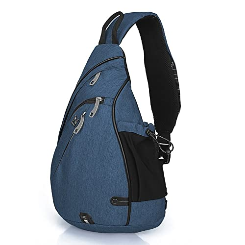 a7b13e799e79 Day Sling Backpack Purse with Water Bottle Holder for Women and Men,  Outdoor Crossbody Shoulder