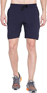 American-Elm Blue Polyester/Dry Fit Sporty Active Shorts, Gym Wear for Men (Navy Blue)
