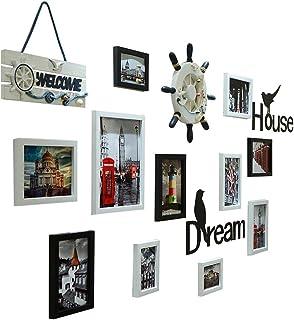 Wubingliu Paquete de 11 Marcos de Fotos Collage de Marcos de Fotos Wall Gallery Kit para Wall y Home, One 10 in, Seven 7 i...