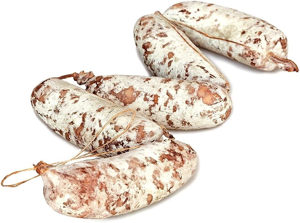 Salumi pasini salamino contadino carne 100% italiana senza glutine e lattosio 5 pezzi 650 gr totali
