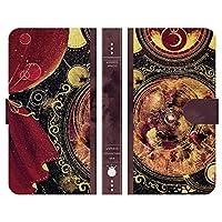 ブレインズ Xperia Ace II SO-41B 手帳型 スマホ ケース カバー 紅月の魔法書 よう 月 wondercollection 魔法 宇宙