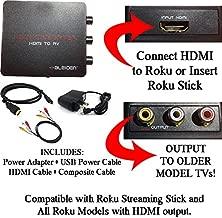 HDMI to 3RCA Composite AV Converter for Roku [Roku 2, Roku 3, Roku 4, Roku Express, Roku Ultra, Roku Premiere, Roku Premiere+ and Roku Streaming Stick (All Models)]