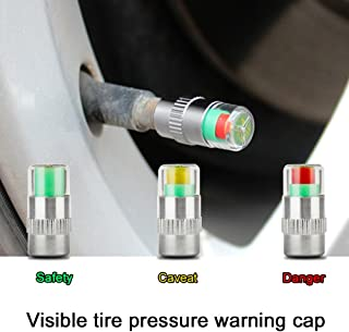 KENTT 4PCS car auto wheel tire pressure monitor gage alert sensor indicator Tyre Stem Air Airtight valve caps Gauge Car Accessories