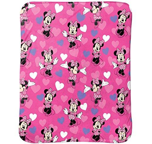 Disney Minnie Mouse Bowtique Minnie Hearts 40' x 50' Travel Blanket