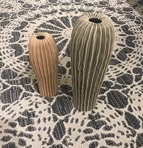 LAFORMA Vaso Cactus Ceramica - Astro (Beige, 12_x_34_x_12)