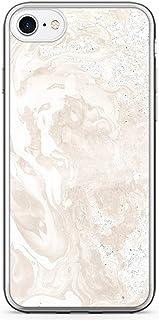 iPhone 8 Transparent Edge Phone case Marble Phone Case Elegant iPhone 8 Cover with Transparent Bumper