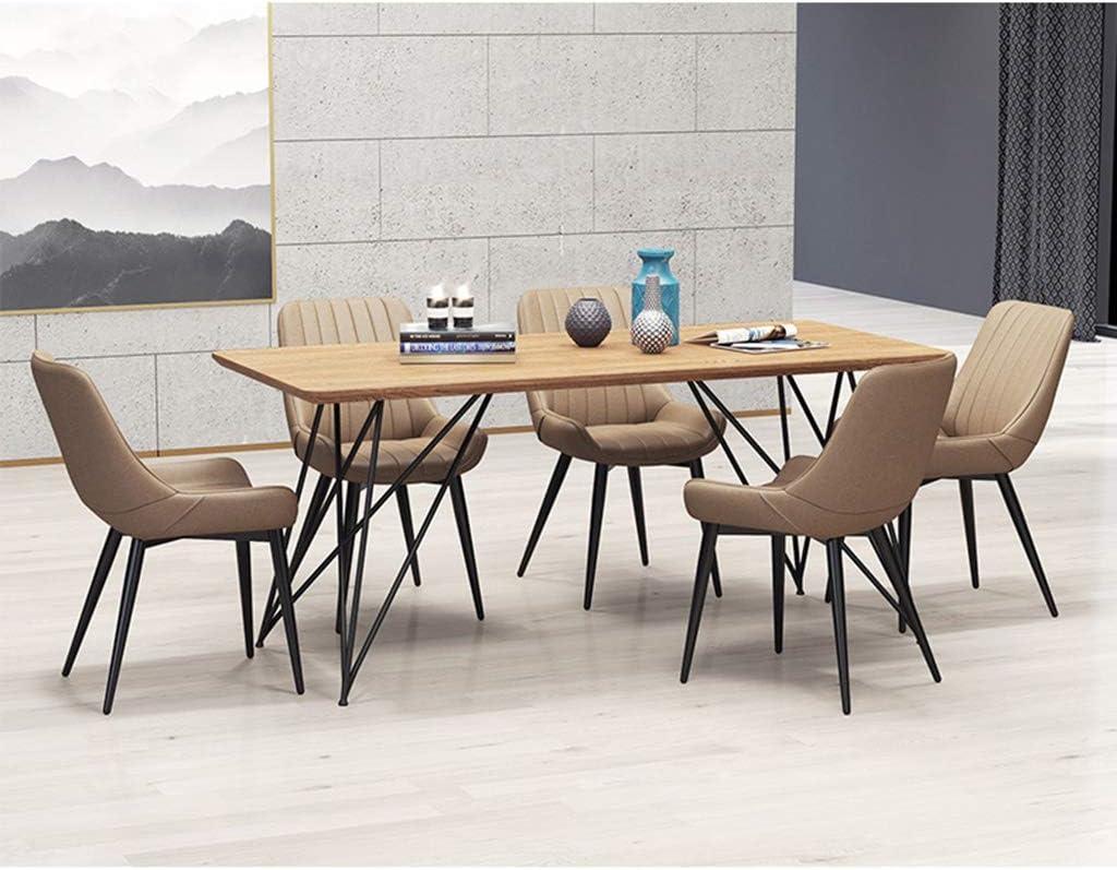 LSRRYD Lot de 4 Chaises de salle à manger Chaise de Cuisine Salle à Manger Design scandinave Assise PU rembourrée avec Antidérapant Pattes en métal Chaise de bar (Color : D) E