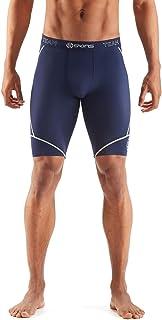 SKINS Men's DNAmic Compression Team Half 1/2 Tights Capri Shorts