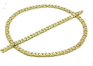 Gold Hugs & Kisses Necklace and Bracelet Set Hearts 2