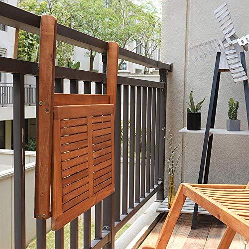 XLAHD Computerarbeitsplätze Hängetisch Balkon Klappdeck Tisch 60 x 40 cm Holz Wandmontage Drop-Leaf Tischhöhe Höhenverstellbar Klappbarer Laptop Computer Schreibtisch