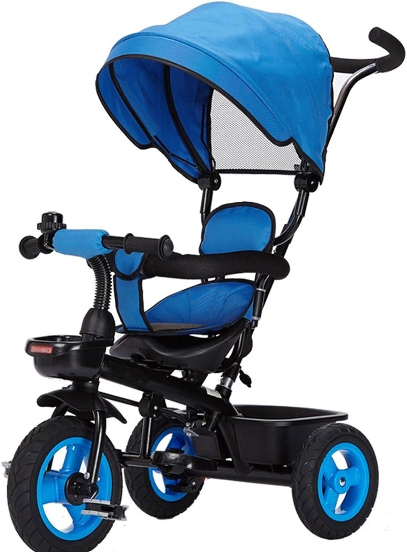 diseñador en linea Strollers DD Bicicleta de de de bebé Bicicleta Infantil de 8 Meses en Bicicleta - 6 años, con toldo, neumático de Goma Completo Triciclo Bebe (Color   Azul)  el precio más bajo