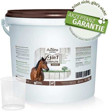 AniForte 4in1 Complete 3kg - Natürliche Rundumversorgung für Pferde mit Bierhefe BT, Hagebutten-Pulver, Kieselgur, Topinambur, reich an Präbiotika, Vitaminen Mineral- und Vitalstoffe